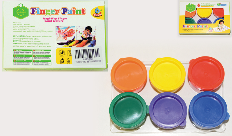 image Finger Paint Set 6τμχ