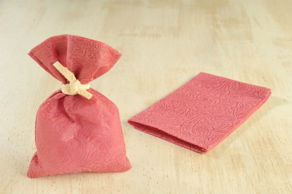 image Pouches with Relief Fabric 20pcs